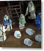 Creche Shepards And Sheep Metal Print