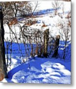 Creek Fenceline Metal Print
