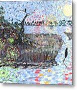 Creek Impressions #2 - Nocturne  Metal Print