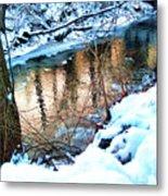 Creek In Bath Ohio Metal Print