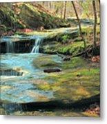 Creek In Dappled Light At Don Robinson State Park 1 Metal Print