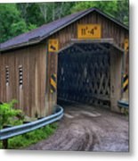 Creek Road Bridge Metal Print