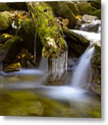 Creek With Icicles Metal Print