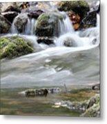Creek With Rocks Spring Scene Metal Print