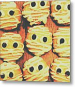 Creepy And Kooky Mummified Cookies  Metal Print