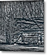 Creepy Cabin In The Woods Metal Print