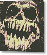 Creepy Face From Nightmares Past Metal Print