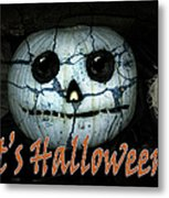 Creepy Halloween Pumpkin Metal Print