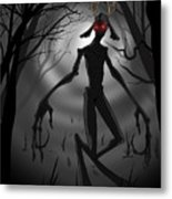 Creepy Nightmare Waiting In The Dark Forest Metal Print