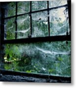 Creepy Old Window Metal Print