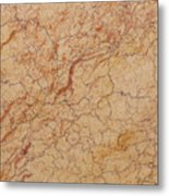 Crema Valencia Granite Metal Print