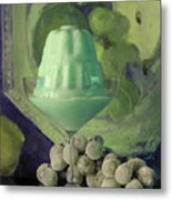 Creme De Menthe With Grapes Metal Print
