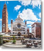 Cremona Market Square With Cathedral Metal Print