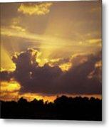 Crepuscular Rays Of Sunlight Metal Print