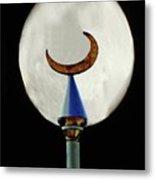 Crescent Full Moon Metal Print