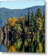 Crescent Lake Fall Colors Metal Print
