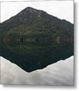 Crescent Lake Reflection Metal Print
