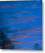 Crescent Moon At Sundown Metal Print