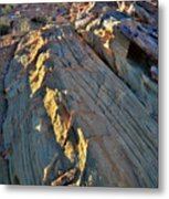 Crest Of Sandstone Wave At Sunset In Valley Of Fire Metal Print