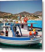 Crete Fishing Boats Metal Print