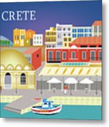 Crete Greece Horizontal Scene Metal Print