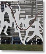 Cricket Art Sculpture Southampton Metal Print