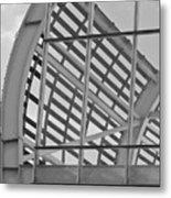 Cricket Stadium Architecture Black And White Metal Print