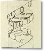 Cricks Original Dna Sketch Metal Print