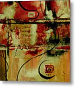 Crimson And Copper Metal Print