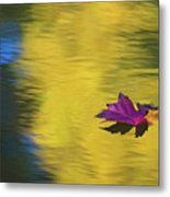 Crimson And Gold Metal Print