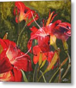 Crimson Light Metal Print