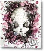 Crimson Skull Metal Print