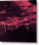 Crimson Storm Metal Print