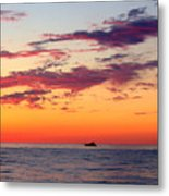 Crimson Yachting  Metal Print