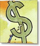 Crisis And Money Metal Print