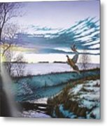 Crisp Winter Light Metal Print
