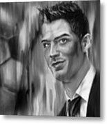 Cristiano Soccer Player 01 Metal Print