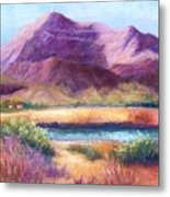 Cristo Rey In Autumn Metal Print by Candy Mayer