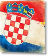 Croatia Flag Metal Print