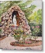 Crockett California Saint Rose Of Lima Church Grotto Metal Print