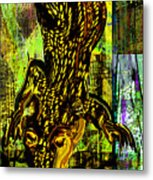 Crocodile At Nile Metal Print