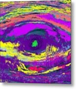 Crocodile Eye Metal Print