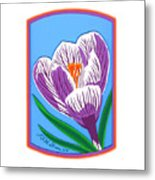 Crocus Too Metal Print