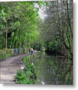 Cromford Canal - Tree Lined Walk Metal Print