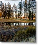 Crooked Creek Sunset Metal Print
