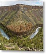 Crooked River Gorge Metal Print