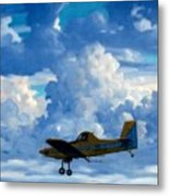 Crop Duster Metal Print