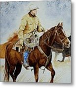Cropped Ranch Rider Metal Print