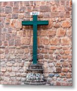 Cross And Cusco Cathedreal Metal Print