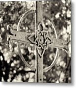 Cross At Dublin Pioneer Cemetery Metal Print